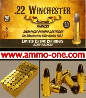 .22 Winchester Auto, a.k.a. 22 Win. Auto, One Cartridge