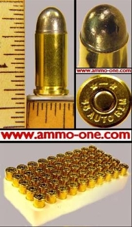.45 Auto Rimmed, a.k.a. .45 ACP Rimmed, 1 Box of 50 cartridges
