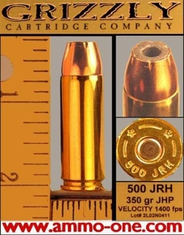 .500 JRH, JHP, One Cartridge not a box!