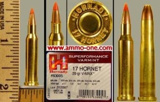 .17 Hornet Centerfire, Hornady, V-Max, 1 Cartridge , not a Box!