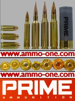 Prime Ammunition Company, 8 Calibers, Single Cartridges
