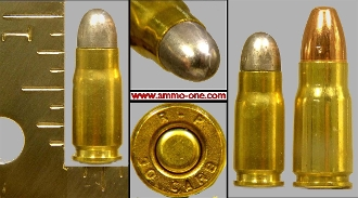 7mm Nambu Pistol Cartridge, One Cartridge, Obsolete