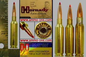 6mm Creedmoor by Horandy, V-max, One Cartridge