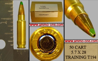 5 7x28mm FN SS194 ammo ammunition for sale Training Green Tip by FN