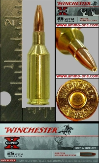 .25 WSSM by Winchester, 120 grain PEP, Box of 20 Cartridges