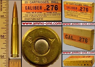 .276 Pedersen Military Exp. 1 Cartridge not a box, no returns**