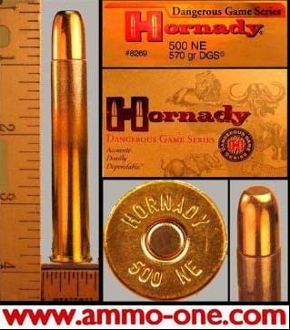 .500 Nitro Express by Hornady, 570gr. FMJ 1 Cartridge not a box