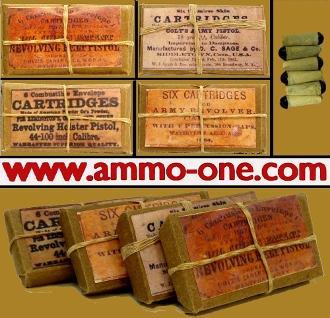 .44 Cal. Paper Combustible, 1 Package of 6, 4 labels available.