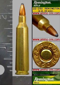 .22-250 Remington by Remington, JSP, One Cartridge, not a Box