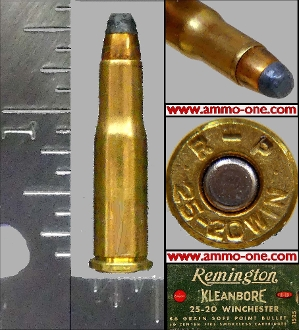 .25-20 Winchester, by Remington, Lead, One Cartridge not a Box.