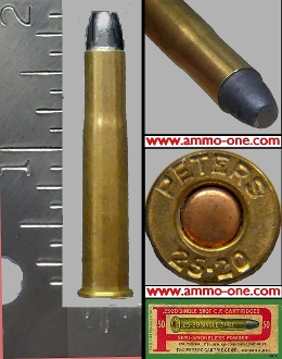 .25-20 SINGLE SHOT by Peters, One Cartridge not a Box