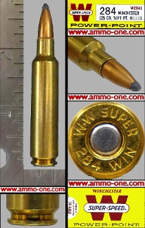 .284 Winchester by Win. 125 gr JSP 1 Cartridge Not a Box Limit 3